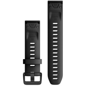 Garmin QuickFit Cinturino In Silicone 20mm Per Fenix 6S, black